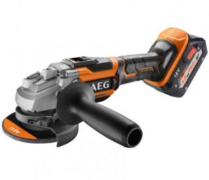 AEG BEWS 18-125 BL-502C Brushless akkus szénkefe nélküli sarokcsiszoló (2 x 5.0 Ah Li-ion akkuval) termék fő termékképe