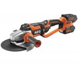 AEG BEWS 18-230 BL LI-602C Brushless akkus szénkefe nélküli nagy sarokcsiszoló (2 x 6.0 Ah Li-ion akkuval)