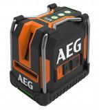 AEG CLG330-K 3-vonalas keresztvetítő lézer lehajtható lábakkal, zöld