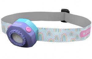 Ledlenser Kidled4R gyermek tölthető Led fejlámpa, lila, 1x3.7 V Li-ion, 40 lm termék fő termékképe