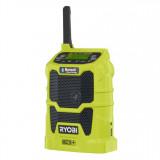 Ryobi R18R-0 akkus rádió Bluetooth®-al (akku és töltő nélkül)