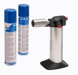 CFH M 60 Diamant flambírozó pisztoly + 2 db bután utántöltő gáz palack (100 ml)