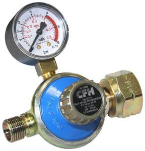 CFH DR 115 propán nyomásszabályozó, manométerrel beállítható, 1-4 bar termék fő termékképe