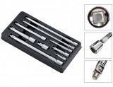 """Welzh Werkzeug 6118-WW crowa hosszabbító szár készlet, 1/4""""-3/8""""-1/2"""", 9 részes"""