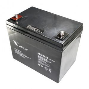Vision 6FM75X-F11 zárt ólomakkumulátor 12 V/75 Ah termék fő termékképe