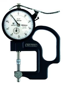 Mitutoyo Analóg órás gyors-vastagságmérő állítható ülékkel, 0-10 mm, 0.01 mm (7313) termék fő termékképe