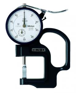 Mitutoyo Analóg órás gyors-vastagságmérő késél mérőpofával, 0-10 mm, 0.01 mm (7315) termék fő termékképe