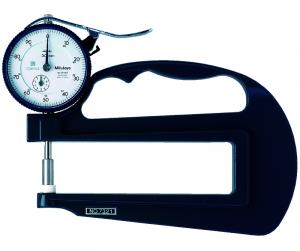 Mitutoyo Analóg órás gyors-vastagságmérő nagy mérőcsőrrel és kerámia tárcsatapintóval, 0-10 mm, 0.01 mm (7321) termék fő termékképe