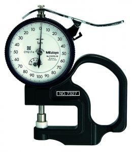 Mitutoyo Analóg órás gyors-vastagságmérő kerámia tárcsatapintóval, 0-1 mm, 0.001 mm (7327) termék fő termékképe