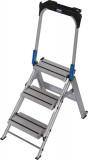 Krause STABILO Professional összecsukható lépcső lehajtható kapaszkodókerettel, 3 fokos