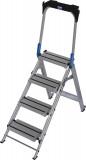 Krause STABILO Professional összecsukható lépcső lehajtható kapaszkodókerettel, 4 fokos