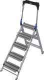 Krause STABILO Professional összecsukható lépcső lehajtható kapaszkodókerettel, 5 fokos