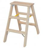 Krause STABILO Professional két oldalon járható lépcsőfokos fa állólétra, 2x3 fokos