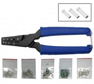 BGS Technic 9-1430 saruzó fogó + szigeteletlen érvéghüvely készlet, DIN 0.5-16 mm2, 151 darabos termék fő termékképe