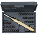 Kraftmann 9-3042 CV-S2 anyagú beütő készlet, szám és betű, 4 mm, automata, 38 darabos