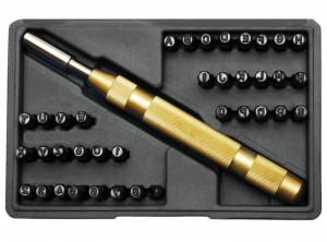 BGS Technic 9-9-3043 beütő készlet, szám és betű, 4 mm, 38 darabos termék fő termékképe
