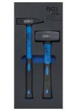 BGS Technic 9-4046 tálcás lakatos-ráverő kalapács készlet, 2 részes