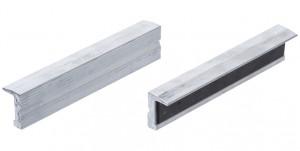 BGS Technic 9-9283 lágy pofa satuhoz, betét nélkül, mágneses, bordázott alumínium, 150 mm termék fő termékképe