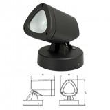 Elmark LED kültéri, falba süllyeszthető lámpatest, sötétszürke, 210 lm, 4000-4300 K, 3 W