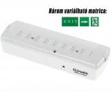Elmark LED vészvilágító lámpatest, 327x76 mm, 75 lm, 6200-6500 K, 2.4 W