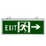 """Elmark LED vészvilágító lámpatest, kétoldalas """"Exit"""", 360x150 mm, 35 lm, 3 W"""