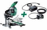 HiKoki C3610DRA-BASIC+ET36A MULTI VOLT akkus szénkefe nélküli gérvágó + ET36A hálózati adapter (akku és töltő nélkül)
