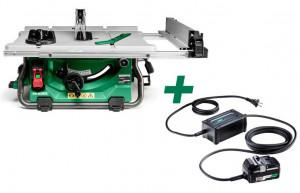 HiKoki C3610DRJ-BASIC-ET36A MULTI VOLT akkus szénkefe nélküli asztali körfűrész + ET36A hálózati adapter (akku és töltő nélkül) termék fő termékképe