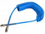Betta CASPUS 0805-6-1/4 PU spiráltömlő forgócsatlakozóval, kék, 8x5x1.5 mm, 6mhosszú
