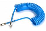 Betta CASPUS 1007-6-1/4 PU spiráltömlő forgócsatlakozóval, kék, 10x7x1.5 mm, 6mhosszú