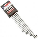 Genius Tools DE-706M hosszított, egyenes csillagkulcs készlet, metrikus, 6 részes