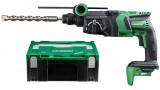 HiKoki DH36DPE-BASIC-HSC MULTI VOLT akkus szénkefe nélküli SDS-plus fúró-vésőkalapács + HITBOX (akku és töltő nélkül)