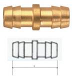 Rectus (DK 06/06) 6 mm csatlakozású kettős tömlővég, rövid
