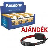 Panasonic F4 pultdisplay (36 bliszter LR6APB/4BP + 16 bliszter LR03APB/4BP) + AJÁNDÉK H4R tölthető Led fejlámpa