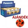 Panasonic F4 pultdisplay (36 bliszter LR6APB/4BP + 16 bliszter LR03APB/4BP) + AJÁNDÉK labda