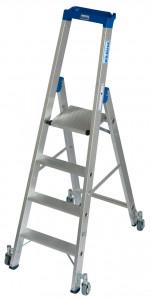 Krause STABILO Professional egy oldalon járható gurítható lépcsőfokos állólétra, 4 fokos termék fő termékképe
