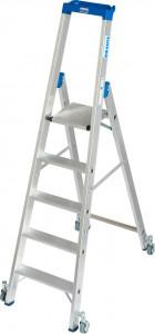 Krause STABILO Professional egy oldalon járható gurítható lépcsőfokos állólétra, 5 fokos termék fő termékképe