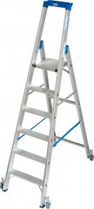 Krause STABILO Professional egy oldalon járható gurítható lépcsőfokos állólétra, 6 fokos termék fő termékképe