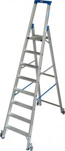 Krause STABILO Professional egy oldalon járható gurítható lépcsőfokos állólétra, 8 fokos termék fő termékképe