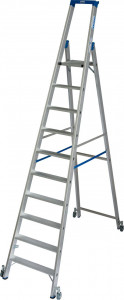 Krause STABILO Professional egy oldalon járható gurítható lépcsőfokos állólétra, 10 fokos termék fő termékképe