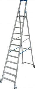 Krause STABILO Professional egy oldalon járható gurítható lépcsőfokos állólétra, 12 fokos termék fő termékképe