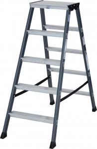 Krause MONTO SePro D két oldalon járható lépcsőfokos állólétra, eloxált, 2x5 fokos termék fő termékképe