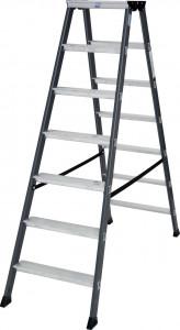 Krause MONTO SePro D két oldalon járható lépcsőfokos állólétra, eloxált, 2x7 fokos termék fő termékképe