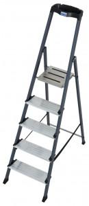 Krause MONTO Securo egy oldalon járható lépcsőfokos állólétra, eloxált, 5 fokos termék fő termékképe