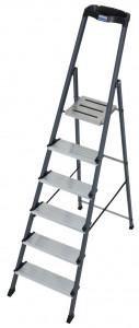 Krause MONTO Securo egy oldalon járható lépcsőfokos állólétra, eloxált, 6 fokos termék fő termékképe