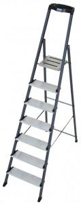 Krause MONTO Securo egy oldalon járható lépcsőfokos állólétra, eloxált, 7 fokos termék fő termékképe