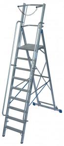 Krause STABILO Professional egy oldalon járható lépcsőfokos állólétra nagy dobogóval és kapaszkodókerettel, 9 fokos termék fő termékképe