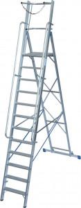 Krause STABILO Professional egy oldalon járható lépcsőfokos állólétra nagy dobogóval és kapaszkodókerettel, 12 fokos termék fő termékképe