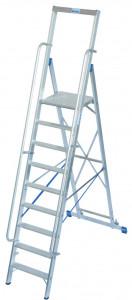 Krause STABILO Professional egy oldalon járható lépcsőfokos állólétra nagy dobogóval, 9 fokos termék fő termékképe