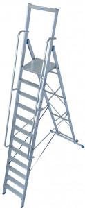Krause STABILO Professional egy oldalon járható lépcsőfokos állólétra nagy dobogóval, 12 fokos termék fő termékképe