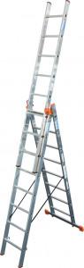Krause MONTO Tribilo háromrészes létrafokos sokcélú létra lépcsőfunkcióval, 3x8 fokos termék fő termékképe